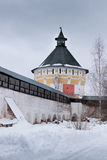 Монастырь Spaso-Priluckiy в зиме Vologda Стоковое Фото