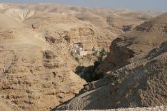 Монастырь St. George в пустыне Иудеи стоковое изображение