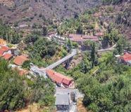 Монастырь St. John Lampadistis Деревня Kalopanagiotis Cypru Стоковые Изображения RF