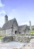 Монастырь St Kevins, Glendalough, графство Wicklow, Ирландия Стоковое Изображение