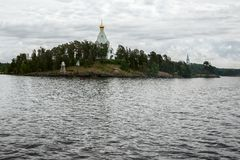 Монастырь St Nicholas - аванпост острова Valaam стоковая фотография