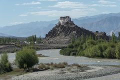 Монастырь Stakna около города leh стоковое изображение