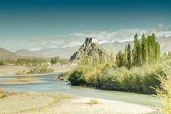 Монастырь Stakna, Ladakh, Джамму и Кашмир, Индия Стоковые Фотографии RF