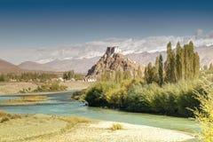 Монастырь Stakna, Ladakh, Джамму и Кашмир, Индия Стоковое Изображение RF