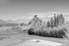 Монастырь Stakna, Ladakh, Джамму и Кашмир, Индия Стоковое фото RF