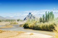 Монастырь Stakna, Ladakh, Джамму и Кашмир, Индия Стоковое Фото