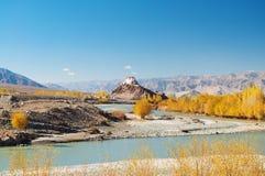 Монастырь Stakna, Leh, Ladakh, Джамму и Кашмир, Индия Стоковая Фотография RF