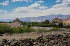 Монастырь Stakna, Leh Ladakh стоковое изображение rf