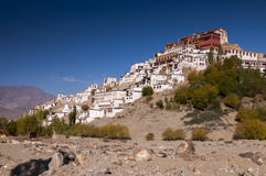 Монастырь Thikse в Ladakh, Индии Стоковая Фотография