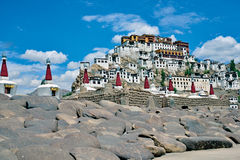 Монастырь Thiksey, Leh-Ladakh, Индия Стоковые Изображения RF