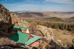 Монастырь Tuvkhun, Монголия Стоковая Фотография
