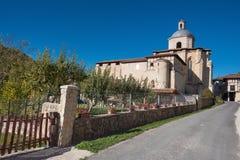 Монастырь Valpuesta старый, начало испанского lenguage bur Стоковое Изображение RF