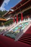 Монастырь Wenwu на озере лун Солнця, Тайване стоковое изображение rf