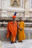 2 монаха на виске Стоковое Фото