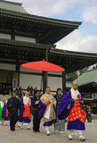 Монахи на виске Naritasan Shinshoji, Narita, Японии стоковая фотография rf