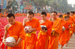 монахи тайские Стоковое Фото