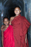 Монах послушника, Мьянма стоковые изображения