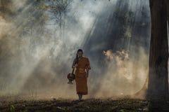 Монах послушника стоковые фотографии rf
