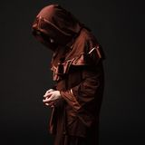 Монах тайны моля дальше вставать Стоковое Изображение RF