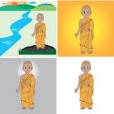 Монах Иллюстрация вектора