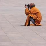 монах Стоковая Фотография