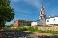 Монашеские здания около дороги Стоковое фото RF