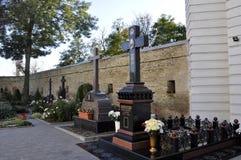 Монашеское кладбище в Киеве Pechersk Lavra Стоковое Изображение RF