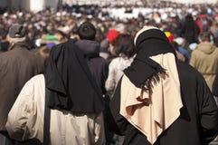 Монашки на массе Папы Фрэнсиса Стоковая Фотография