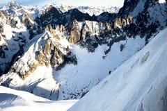 Монблан Mountian, Шамони Франция стоковое фото