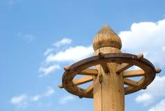 монгольский привязывать столба деревянный Стоковое Изображение RF