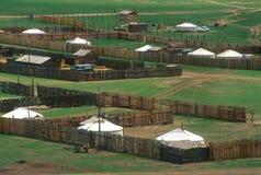 монгольское село Стоковые Фотографии RF