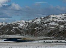 Монгол ger в горах во время фестиваля беркута Стоковые Изображения
