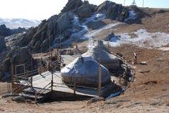 Монгол ger кочевническое стоковое фото rf