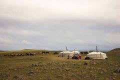 Монгольская семья стоковые фотографии rf