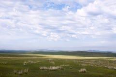 Монгольские степи Стоковые Фото