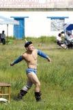 Монгольский борец Стоковые Фото