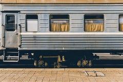 Монгольский винтажный поезд Стоковые Фото