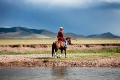 Монгольский пастух стоковые фото