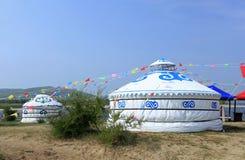 Монгольское yurt стоковое изображение rf