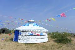 Монгольское yurt стоковые изображения rf