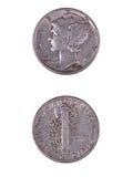 Монета в 10 центов Меркурия Стоковые Фото
