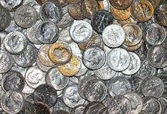 Монета в 10 центов i одновременно Стоковое Изображение