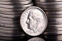 монета в 10 центов головной roosevelt Стоковое фото RF
