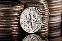 монета в 10 центов головной roosevelt Стоковое Изображение RF