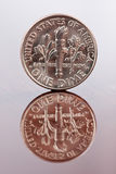 монета в 10 центов одно Стоковое Изображение RF