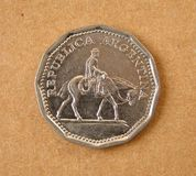 монетка Аргентины старая Стоковое Изображение