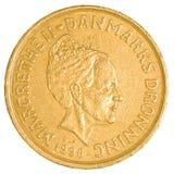 монетка датской кроны 20 стоковая фотография rf