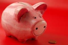 монетка банка piggy Стоковое фото RF