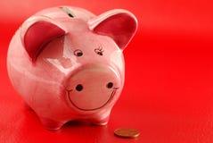 монетка банка piggy Стоковое Фото