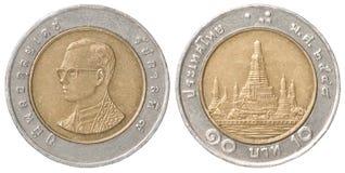монетка бата тайская Стоковое Фото